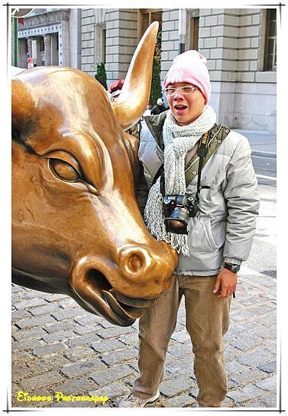 傳說摸銅牛可以賺錢
