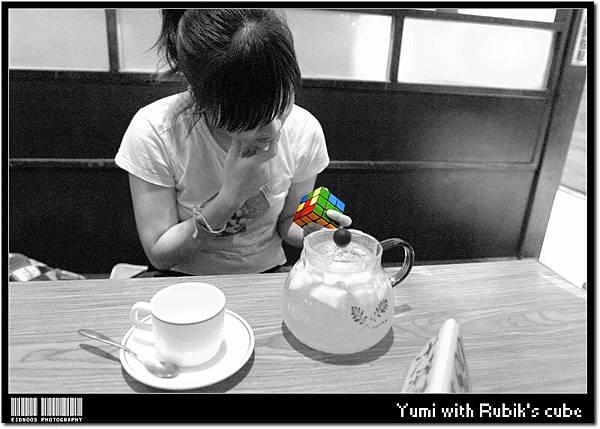 Yumi with Rubik's cube