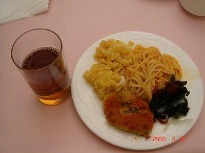 義大利麵+嫩豬排+海帶芽