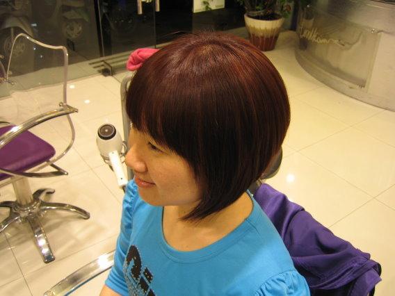 變髮~巧克力粉紅色 側面.JPG