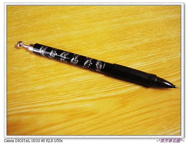 25 妹妹送的樂譜自動鉛筆,逛音樂節看到的~.jpg