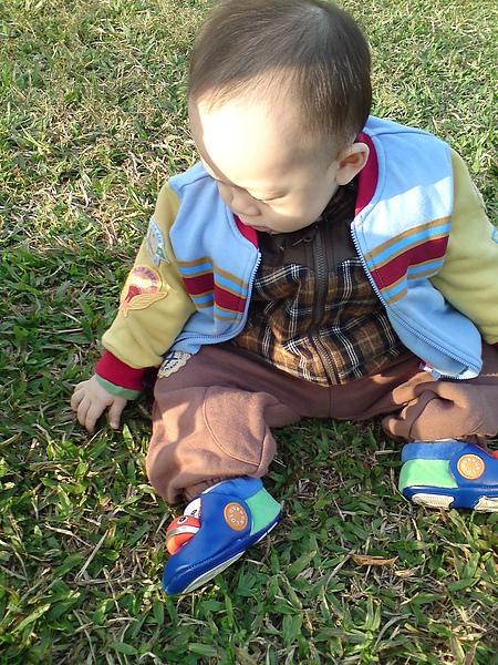 第一次坐在草地上