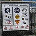 golden gate bridge複雜的標示