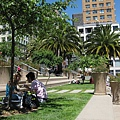 公園野餐曬太陽的couple
