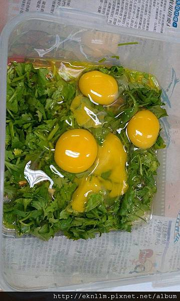 香菜蝦仁煎蛋