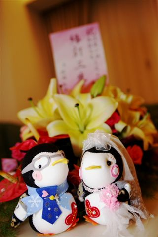 企鵝結婚娃娃,訂做的~~