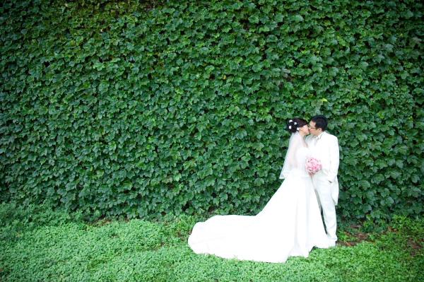 我真的很喜歡這片綠牆~~