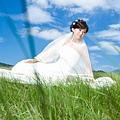 藍天、白雲、綠草地,謝謝秋老虎發威啊!