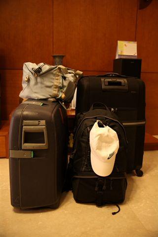 出發時的行李