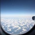 起飛後天氣好好~~