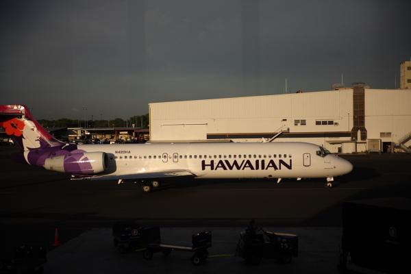 我們搭乘的夏威夷航空飛機