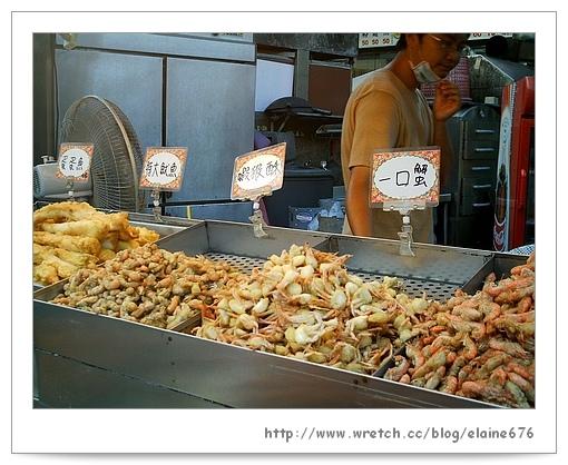 賣蝦猴的小攤--鹿港阿道