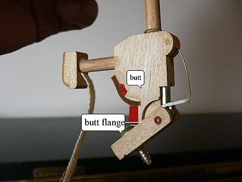 鋼琴的關節炎 - butt flange center pin 锈