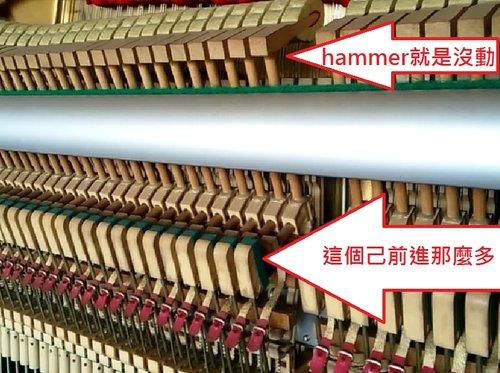 彈一下會出現二個以上的音 - hammer跳動