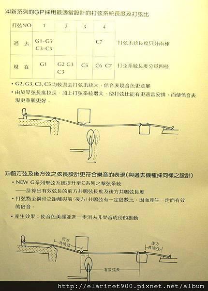 山葉平型鋼琴C型與G型之差異2