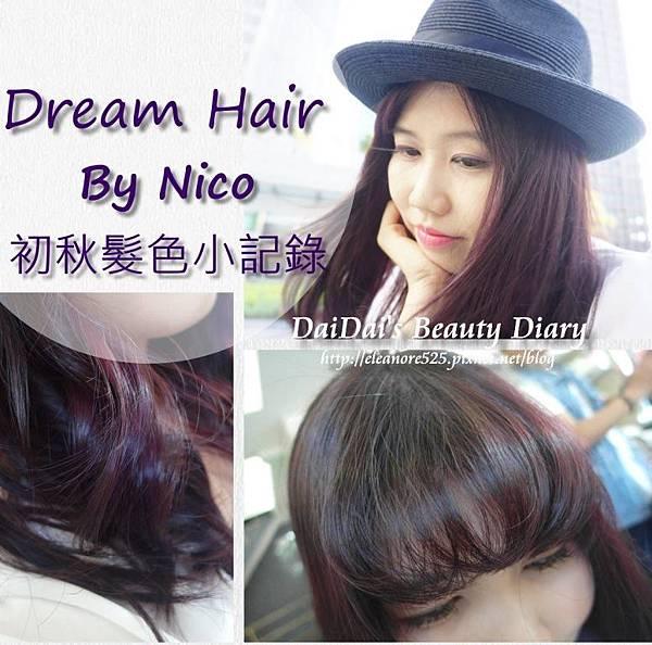 ▌頭髮 ▌Dream Hair - Nico ♥ 初秋的深紫色 & 瀏海回春術(!?