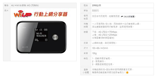 超能量wi-up WIFI 日本旅遊