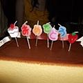 可愛的日文祝賀蠟燭