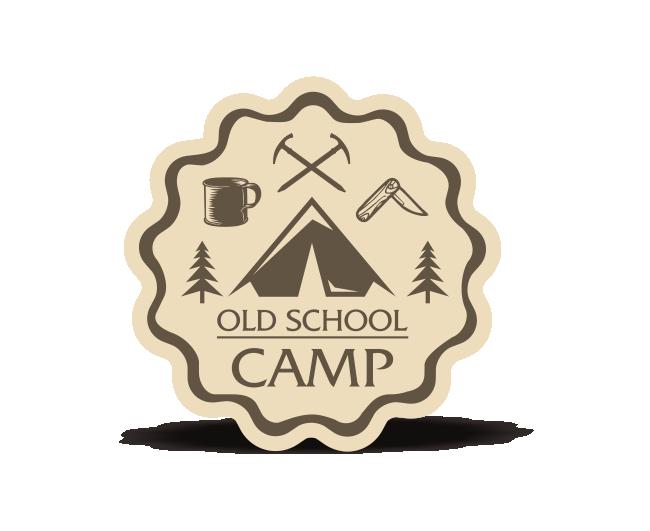 Old School Camp-貼紙