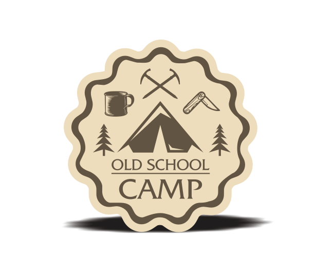 Old School Camp-貼紙