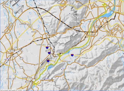 20110529三重大溪單車遊_路線圖.jpg