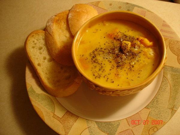 海鮮起司湯