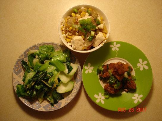 家常豆腐+滷肉
