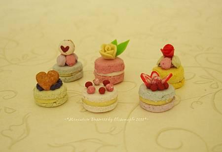 miniature macaron cake04
