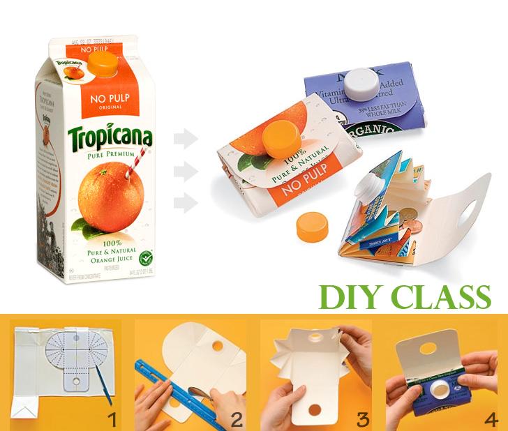 綠果DIY教室|牛奶、果汁盒30分鐘變「零錢包」