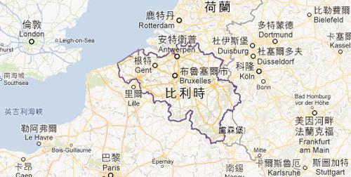 比利時地圖
