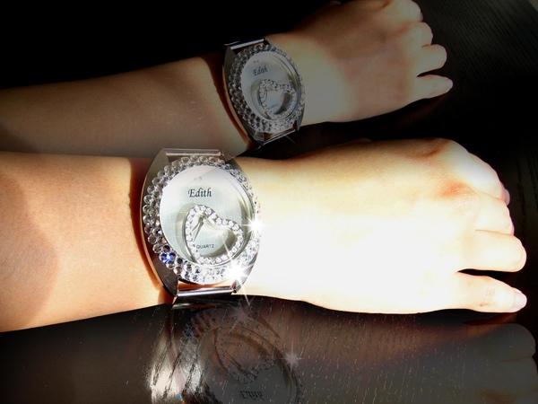 Bling Bling水鑚+鏡面墜飾可移動式手錶--甜美愛心款3.jpg
