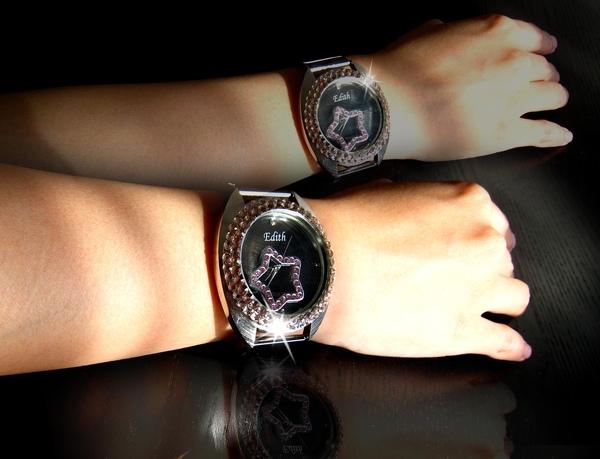 Bling Bling水鑚+鏡面墜飾可移動式手錶--閃亮巨星款3.jpg