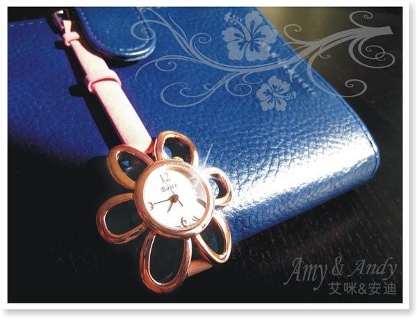 花花公主 立體花朵麂皮腕錶《玫瑰金》2.jpg