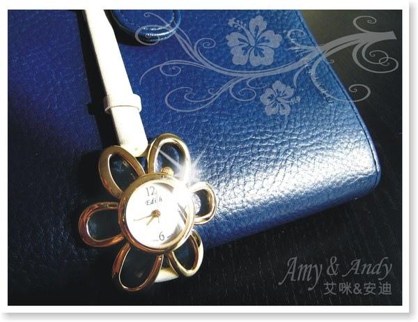 花花公主 立體花朵麂皮腕錶《香檳金》2.jpg