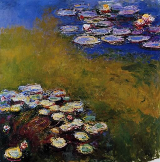 1914-17 藍色調的睡蓮  Waterlilies,Harmony in Blue  200x200cm.jpg