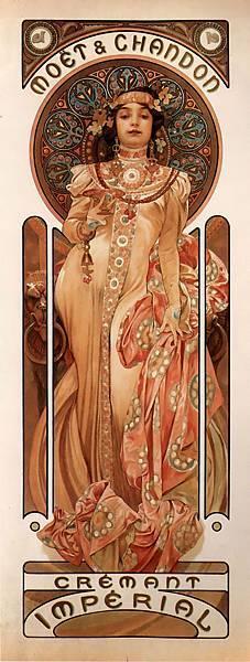 Alfons Mucha, 皇家白葡萄酒、白星香檳2.jpg
