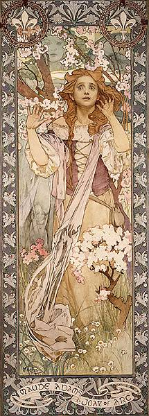 Alfons Mucha, Maud Adams as Joan of Arc, 1909.jpg