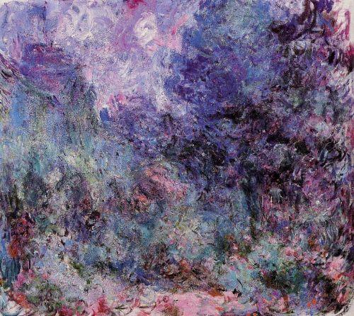 1922-24 由玫瑰花園眺望吉維尼住屋_89x100cm.jpg