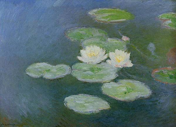 1897 夜色中的睡蓮 Waterlilies Evening_73x100cm2.jpg