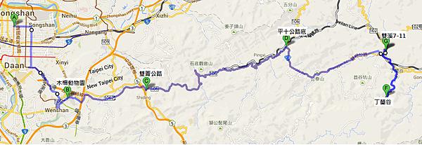 丁蘭谷路線圖