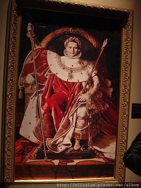坐在寶座上的拿破崙