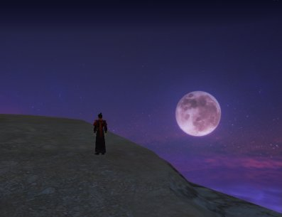 觀星台路上一輪明月