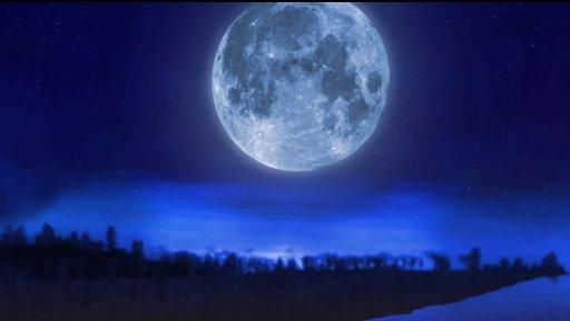 動畫裡的月亮