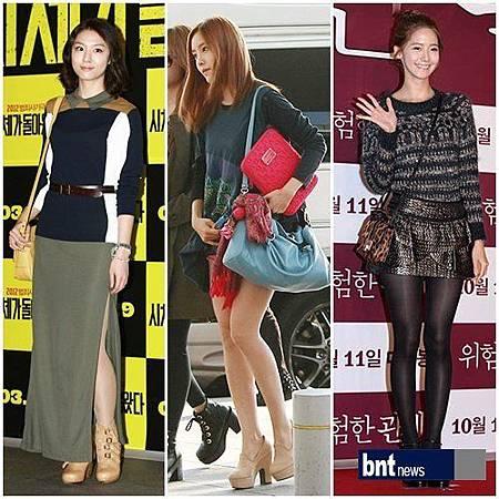 韓國女星秋裝搭配