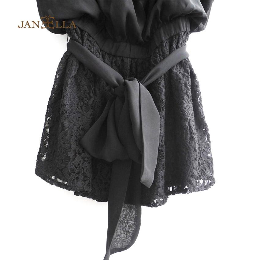 時尚性感雪紡拼接蕾絲洋裝