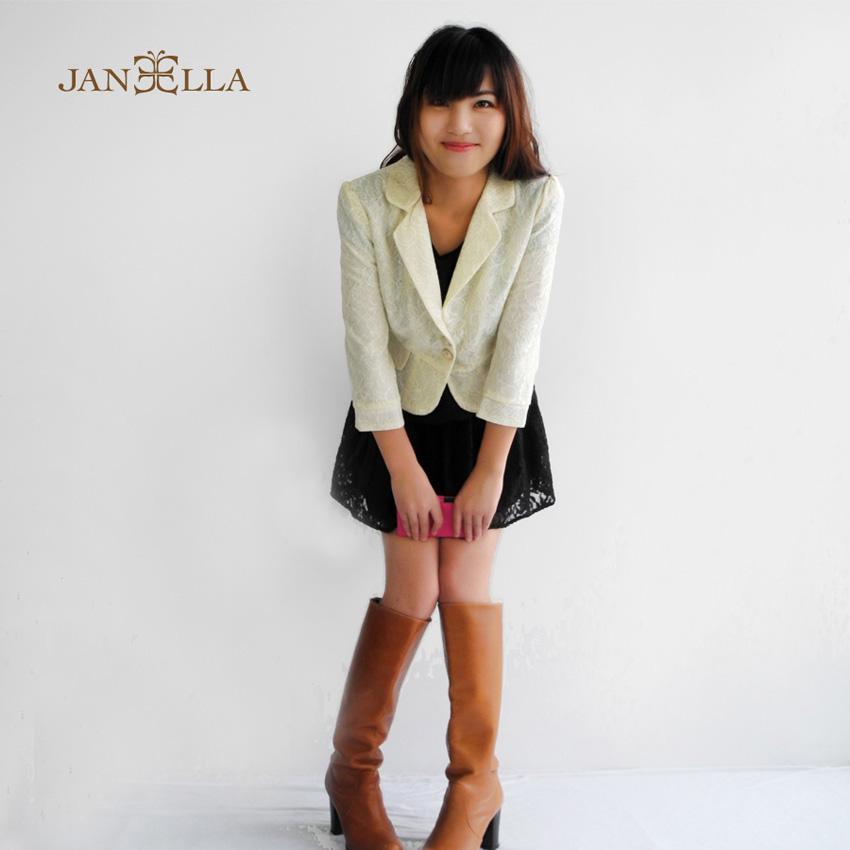 韓版時尚蕾絲小西裝外套
