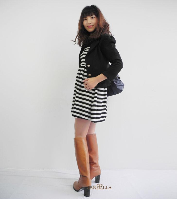 韓版時尚蕾絲小西裝外套~新款!黑色