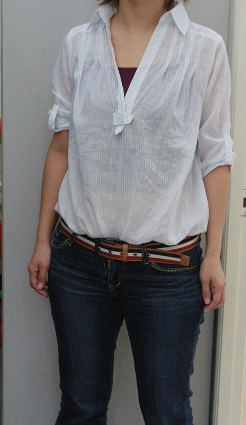 韓板個性全棉深V領襯衫 品牌分享JANEELLA