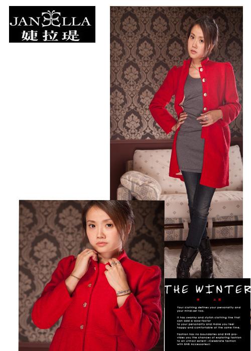時尚甜美、質感羊毛外套新品介紹JANEELLA