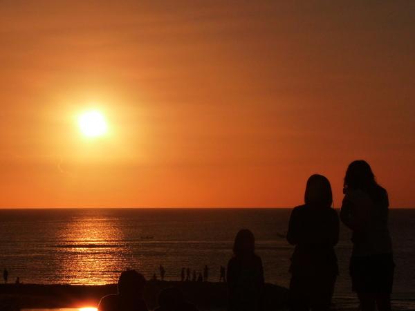 峇里島的夕陽